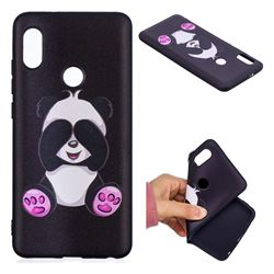 Lovely Panda 3D Embossed Relief Black Soft Back Cover for Xiaomi Mi A2 (Mi 6X)