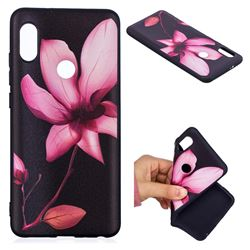 Lotus Flower 3D Embossed Relief Black Soft Back Cover for Xiaomi Mi A2 (Mi 6X)
