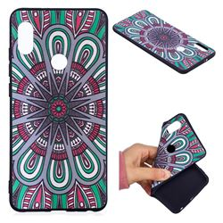 Mandala 3D Embossed Relief Black Soft Back Cover for Xiaomi Mi A2 (Mi 6X)