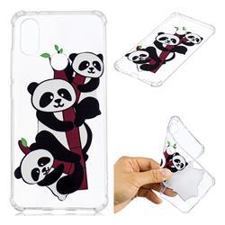 Three Pandas Anti-fall Clear Varnish Soft TPU Back Cover for Xiaomi Mi A2 (Mi 6X)