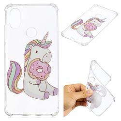 Donut Unicorn Anti-fall Clear Varnish Soft TPU Back Cover for Xiaomi Mi A2 (Mi 6X)