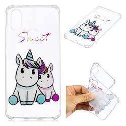 Sweet Unicorn Anti-fall Clear Varnish Soft TPU Back Cover for Xiaomi Mi A2 (Mi 6X)
