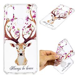 Always be Brave Anti-fall Clear Varnish Soft TPU Back Cover for Xiaomi Mi A2 (Mi 6X)