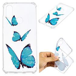 Blue butterfly Anti-fall Clear Varnish Soft TPU Back Cover for Xiaomi Mi A2 (Mi 6X)