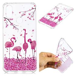 Cherry Flamingo Anti-fall Clear Varnish Soft TPU Back Cover for Xiaomi Mi A2 (Mi 6X)