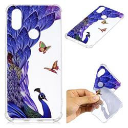 Peacock Butterfly Anti-fall Clear Varnish Soft TPU Back Cover for Xiaomi Mi A2 (Mi 6X)