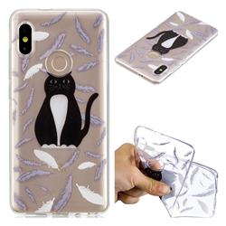Feather Black Cat Super Clear Soft TPU Back Cover for Xiaomi Mi A2 (Mi 6X)