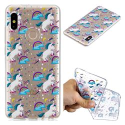 Rainbow Running Unicorn Super Clear Soft TPU Back Cover for Xiaomi Mi A2 (Mi 6X)