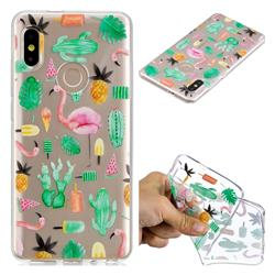 Cactus Flamingos Super Clear Soft TPU Back Cover for Xiaomi Mi A2 (Mi 6X)