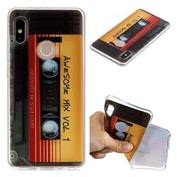 Retro Cassette Tape Super Clear Soft TPU Back Cover for Xiaomi Mi A2 (Mi 6X)
