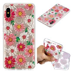 Chrysant Flower Super Clear Soft TPU Back Cover for Xiaomi Mi A2 (Mi 6X)