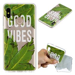 Good Vibes Banana Leaf Super Clear Soft TPU Back Cover for Xiaomi Mi A2 (Mi 6X)
