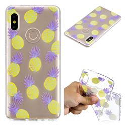 Carton Pineapple Super Clear Soft TPU Back Cover for Xiaomi Mi A2 (Mi 6X)