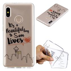 Line Castle Super Clear Soft TPU Back Cover for Xiaomi Mi A2 (Mi 6X)