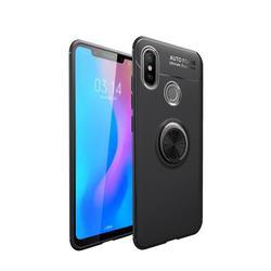 Auto Focus Invisible Ring Holder Soft Phone Case for Xiaomi Mi A2 (Mi 6X) - Black