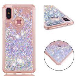Dynamic Liquid Glitter Quicksand Sequins TPU Phone Case for Xiaomi Mi A2 (Mi 6X) - Silver