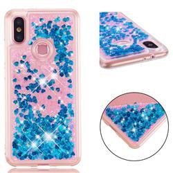Dynamic Liquid Glitter Quicksand Sequins TPU Phone Case for Xiaomi Mi A2 (Mi 6X) - Blue
