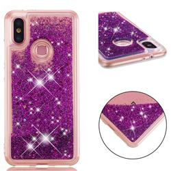 Dynamic Liquid Glitter Quicksand Sequins TPU Phone Case for Xiaomi Mi A2 (Mi 6X) - Purple