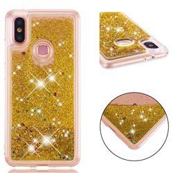 Dynamic Liquid Glitter Quicksand Sequins TPU Phone Case for Xiaomi Mi A2 (Mi 6X) - Golden