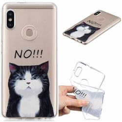 Cat Say No Clear Varnish Soft Phone Back Cover for Xiaomi Mi A2 (Mi 6X)