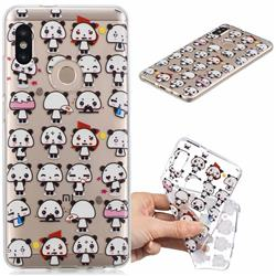 Mini Panda Clear Varnish Soft Phone Back Cover for Xiaomi Mi A2 (Mi 6X)
