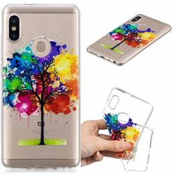 Oil Painting Tree Clear Varnish Soft Phone Back Cover for Xiaomi Mi A2 (Mi 6X)