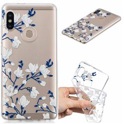 Magnolia Flower Clear Varnish Soft Phone Back Cover for Xiaomi Mi A2 (Mi 6X)