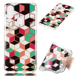 Three-dimensional Square Soft TPU Marble Pattern Phone Case for Xiaomi Mi A2 (Mi 6X)