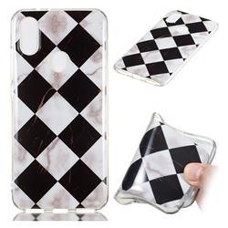 Black and White Matching Soft TPU Marble Pattern Phone Case for Xiaomi Mi A2 (Mi 6X)