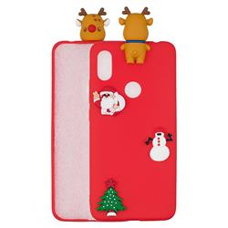 Red Elk Christmas Xmax Soft 3D Silicone Case for Xiaomi Mi A2 (Mi 6X)