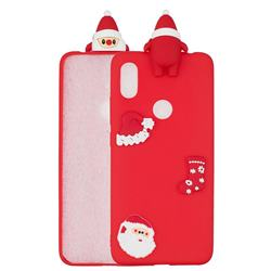 Red Santa Claus Christmas Xmax Soft 3D Silicone Case for Xiaomi Mi A2 (Mi 6X)