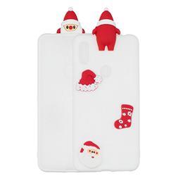 White Santa Claus Christmas Xmax Soft 3D Silicone Case for Xiaomi Mi A2 (Mi 6X)