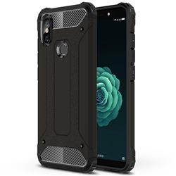 King Kong Armor Premium Shockproof Dual Layer Rugged Hard Cover for Xiaomi Mi A2 (Mi 6X) - Black Gold