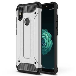 King Kong Armor Premium Shockproof Dual Layer Rugged Hard Cover for Xiaomi Mi A2 (Mi 6X) - Technology Silver