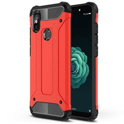 King Kong Armor Premium Shockproof Dual Layer Rugged Hard Cover for Xiaomi Mi A2 (Mi 6X) - Big Red