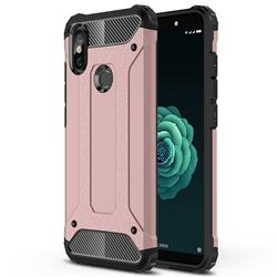 King Kong Armor Premium Shockproof Dual Layer Rugged Hard Cover for Xiaomi Mi A2 (Mi 6X) - Rose Gold