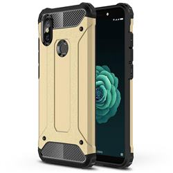 King Kong Armor Premium Shockproof Dual Layer Rugged Hard Cover for Xiaomi Mi A2 (Mi 6X) - Champagne Gold