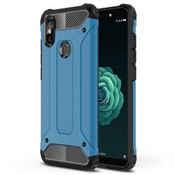 King Kong Armor Premium Shockproof Dual Layer Rugged Hard Cover for Xiaomi Mi A2 (Mi 6X) - Sky Blue