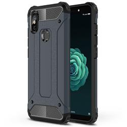 King Kong Armor Premium Shockproof Dual Layer Rugged Hard Cover for Xiaomi Mi A2 (Mi 6X) - Navy