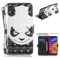 Angry Bear 3D Painted Leather Wallet Phone Case for Xiaomi Mi A2 (Mi 6X)