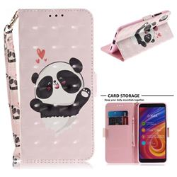 Heart Cat 3D Painted Leather Wallet Phone Case for Xiaomi Mi A2 (Mi 6X)