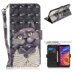 Cat Embrace 3D Painted Leather Wallet Phone Case for Xiaomi Mi A2 (Mi 6X)