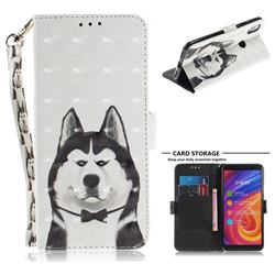 Husky Dog 3D Painted Leather Wallet Phone Case for Xiaomi Mi A2 (Mi 6X)
