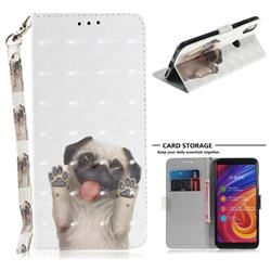 Pug Dog 3D Painted Leather Wallet Phone Case for Xiaomi Mi A2 (Mi 6X)