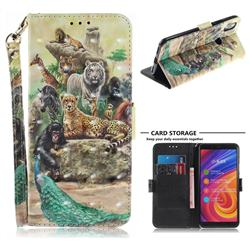 Beast Zoo 3D Painted Leather Wallet Phone Case for Xiaomi Mi A2 (Mi 6X)