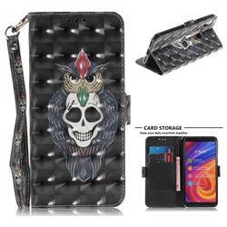 Skull Cat 3D Painted Leather Wallet Phone Case for Xiaomi Mi A2 (Mi 6X)