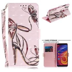 Butterfly High Heels 3D Painted Leather Wallet Phone Case for Xiaomi Mi A2 (Mi 6X)