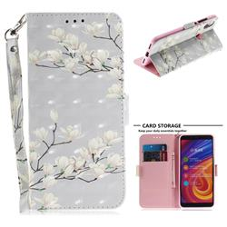 Magnolia Flower 3D Painted Leather Wallet Phone Case for Xiaomi Mi A2 (Mi 6X)