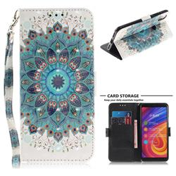 Peacock Mandala 3D Painted Leather Wallet Phone Case for Xiaomi Mi A2 (Mi 6X)