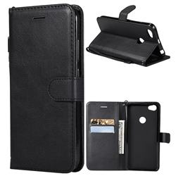 Retro Greek Classic Smooth PU Leather Wallet Phone Case for Xiaomi Mi A2 (Mi 6X) - Black